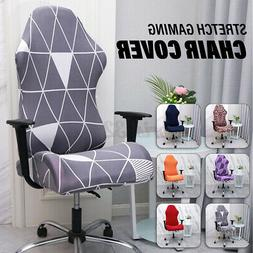 2PCS/SET Removable Stretch Gaming Chair Cover Computer Armch