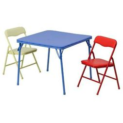 3 PCS Folding Camping Dining Table Set Table With 2 Chairs C