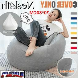 70*80CM Large Bean Bag Chair Sofa Seat Cover Indoor Lazy Lou