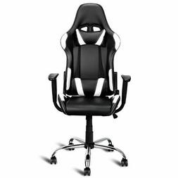 Black and White Gaming Chair Office Chair Race Computer Game