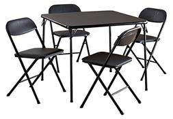 Cosco 5-Piece Card Table Set, Dining Room Kitchen Portable B