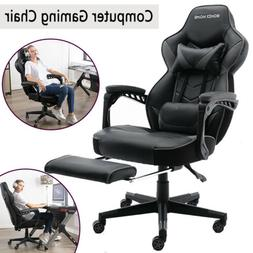 COMPUTER GAMING CHAIR RACING STYLE RECLINER SWIVEL HOME OFFI
