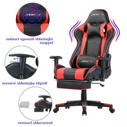 Computer Gaming Chair Office Chair with Footrest Lumbar Mass