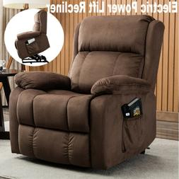 Electric Lift Recliner Chair Sofa Bed Sleeper Couch Padded S