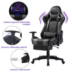 Ergonomic Computer Gaming Chair with Footrest Lumbar Massage