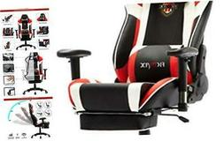 Ergonomic Gaming Chair with Footrest Reclining Home Office C