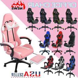Ergonomic Office Gaming Chair Recliner Computer PU Leather F