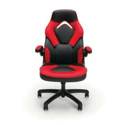 OFM Essentials Racing Style Leather Gaming Chair - Red