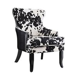 Coaster Cowhide Print Accent Chair in Black and White