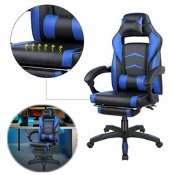 Gaming Chair Ergonomic Racing Style Leather Office Swivel Re