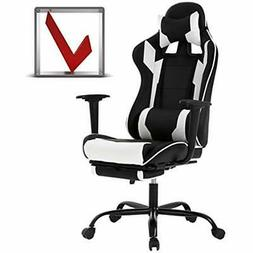 Gaming Chair Ergonomic Swivel High Back Racing Chair, With F