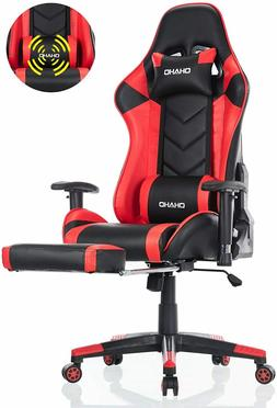OHAHO Ergonomic Computer Gaming Chair with Footrest Lumbar M