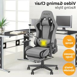 Gaming Chair Office Racing Computer Desk Seat Recliner Footr
