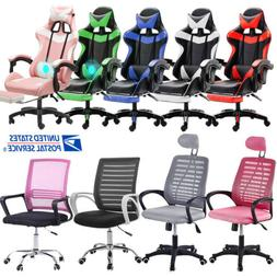 Gaming Chair Racing Computer Office Chair Boss Desk Swivel H