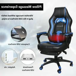 Gaming Chair Racing Computer Office Chair PU High Back Footr