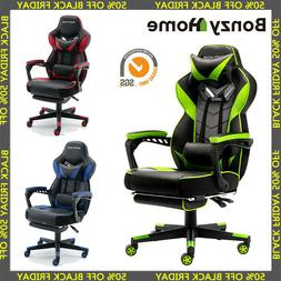 Gaming Chair Racing Style PU Leather Office Recliner Compute
