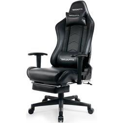 GTRACING Gaming Chair with Footrest Executive Chair Adjustab