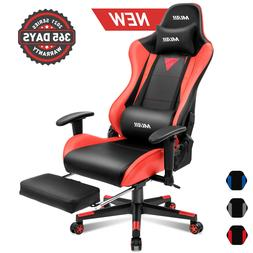Ergonomic Computer Gaming Chair with Footrest Office Racing