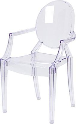 Flash Furniture Ghost Chair w/Arms Transparent Crystal