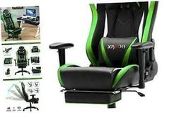Green Massage Gaming Chair High Back, Big and Tall Computer