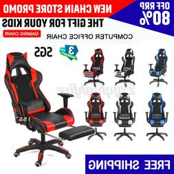 heavy duty office gaming chair ergonomic racing