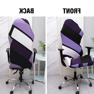 2PCS/SET Removable Stretch Chair Cover Computer Armchair Seat Slipcover
