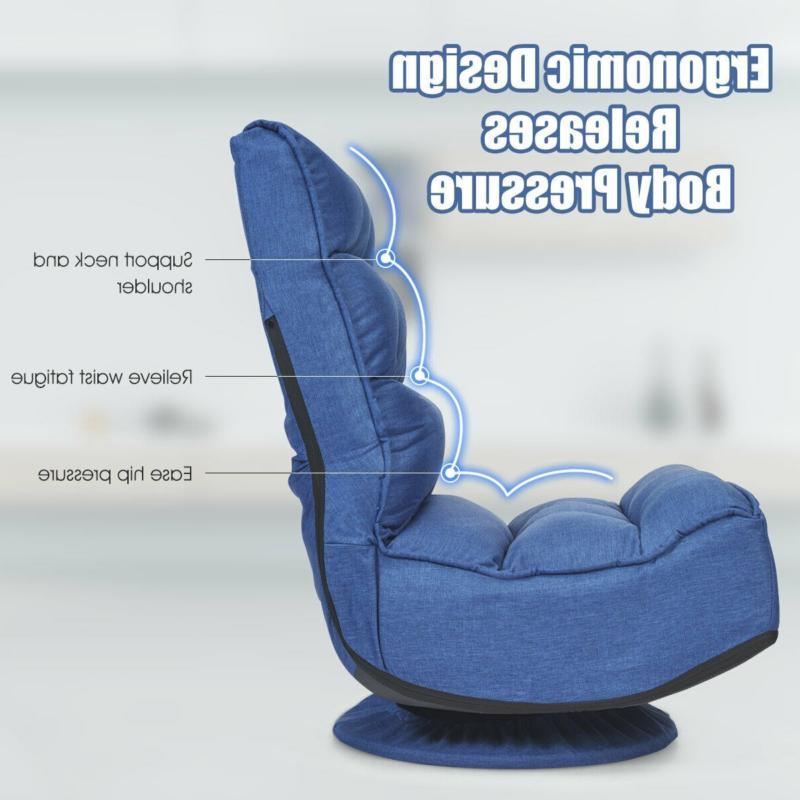 5-Position Folding Floor Gaming Chair PC