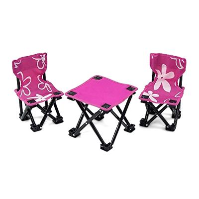 Armless Camping Sports Chairs And Table Set For Kids America