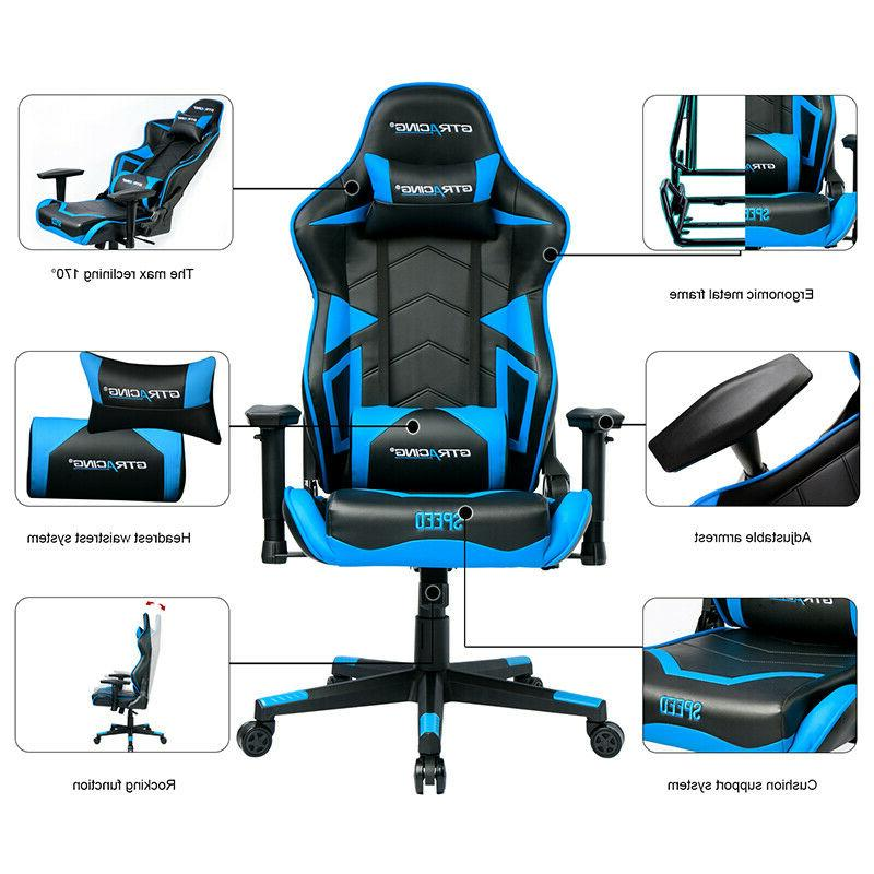 GTRACING Backrest and Seat with Pillows in