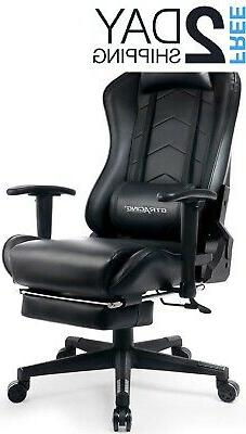 big and tall gaming chair with footrest