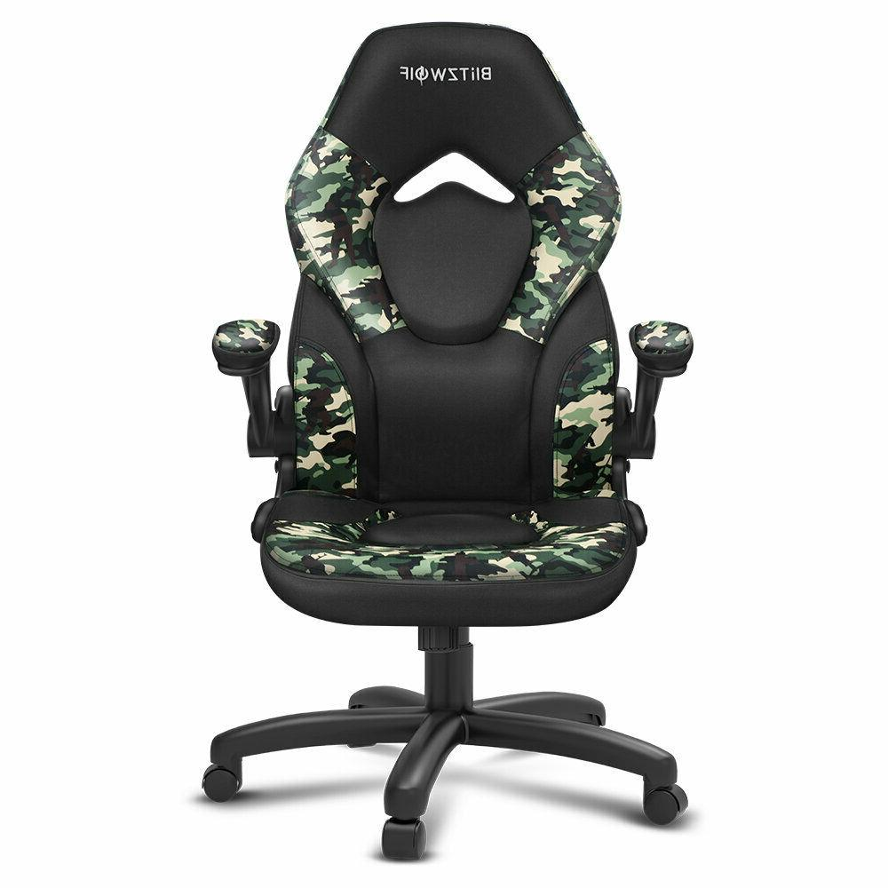 BlitzWolf® Office Gaming Chair Racing Style Computer High-Back PU Swivel