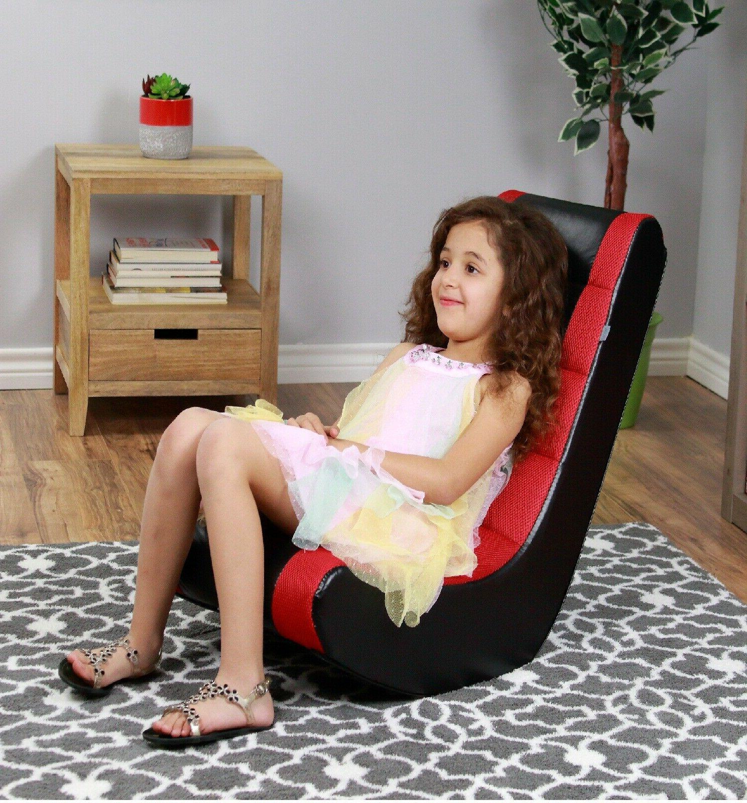The Crew Furniture Classic Video Rocker Gaming Chair - Black/Red