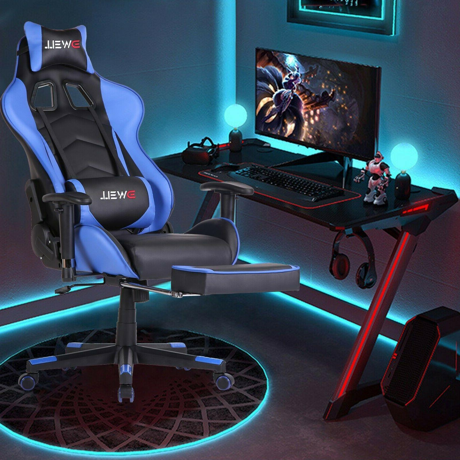 ✅Gaming Chair Video Racing Ergonomic Massage PU Leather Of