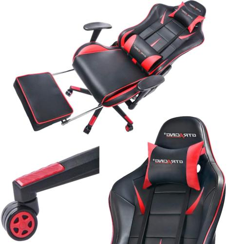Computer Gaming Chair w/ Footrest & Tall Adjustable