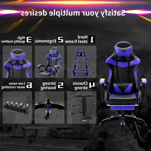 Racing Style Gaming Chair Leather Soft Chair Ergonomic