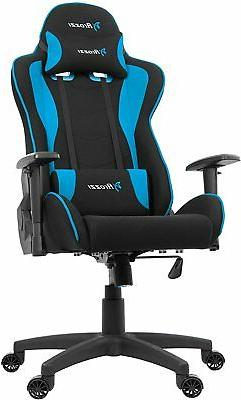 Arozzi Forte Soft Fabric Gaming Chair - Black/Blue
