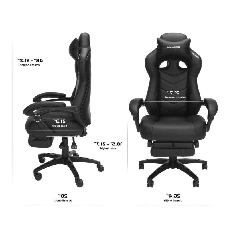 Gaming Chai RESPAWN, Ergonomic Chair Built-in Footrest