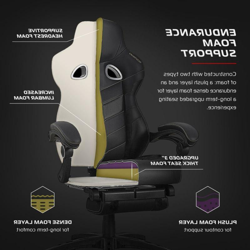 Gaming Ergonomic with Built-in Footrest