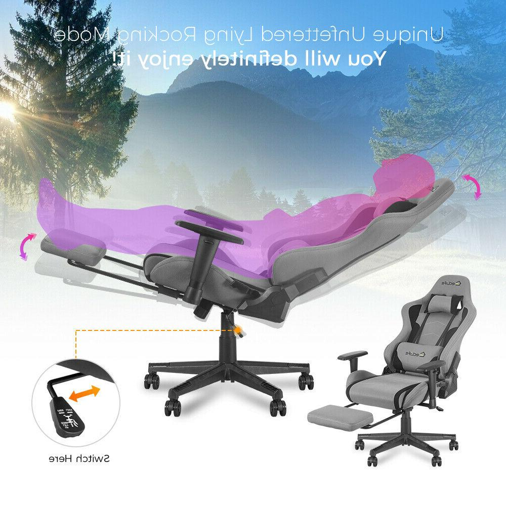 Gaming Chair Computer Seat Recliner Footrest