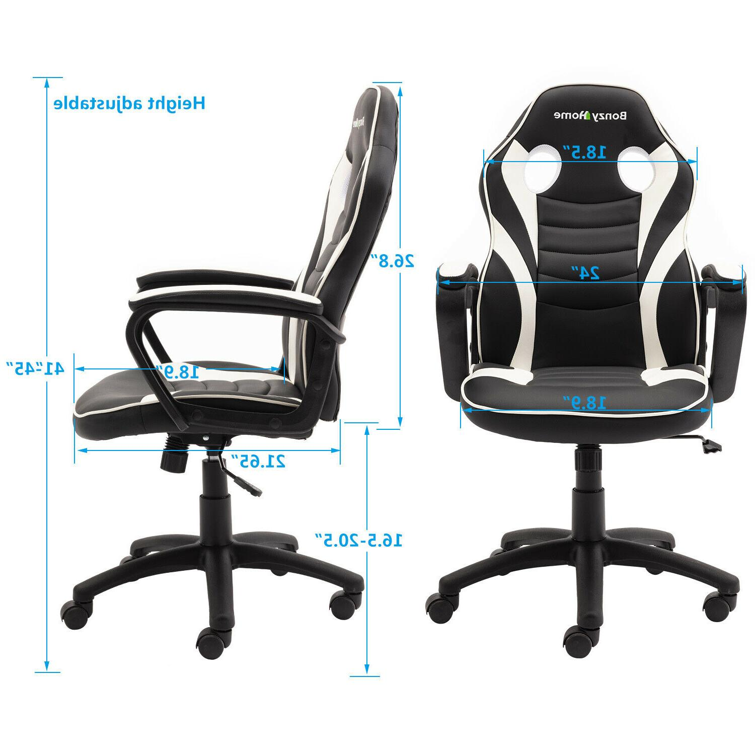 Gaming Chair Style PU Office Computer Desk