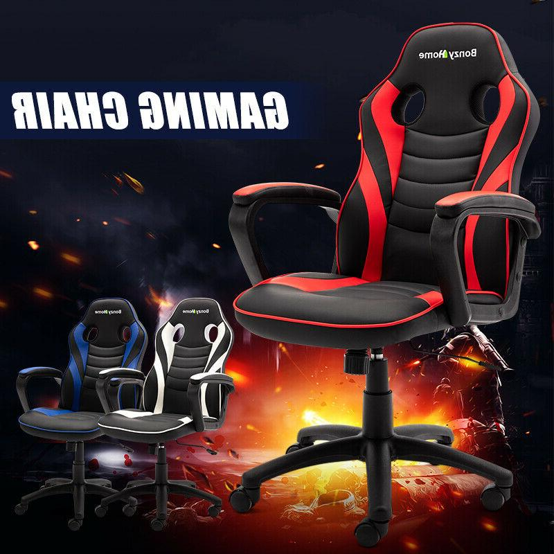 Gaming Style PU Leather Office Executive Computer Desk Seat Swivel
