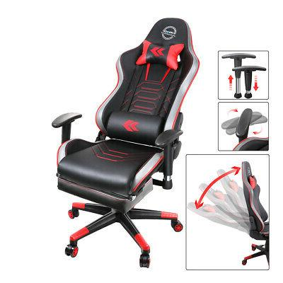 height reclinable adjustable office gaming chair red