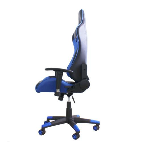 High-Back Ergonomic Office Gaming Chair Racing Desk Chair Blue