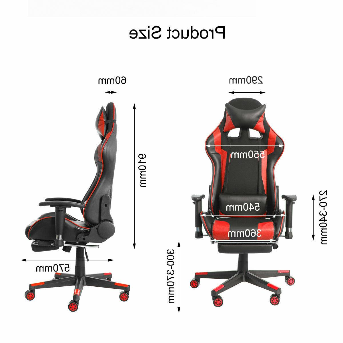 Heavy Chair Ergonomic Racing Computer Leather Recliner