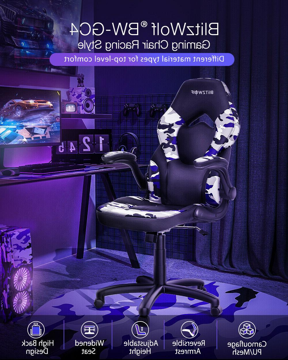 BlitzWolf® Office Gaming Chair Racing Style Computer High-B