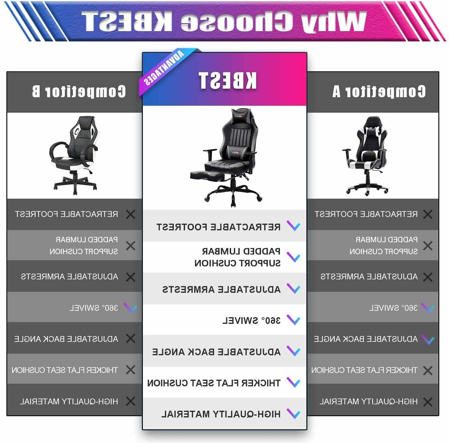 KBEST Massage Gaming PC Computer Office Chair