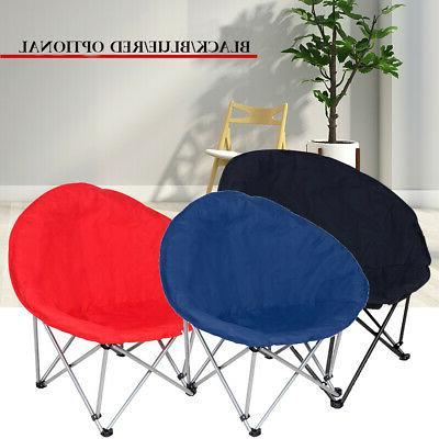 large foldable padded saucer moon chair gaming