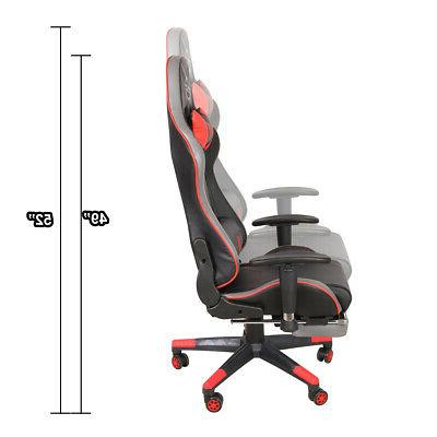 NRG Adjustable Gaming Chair Red
