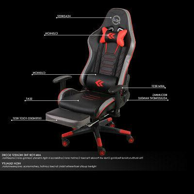NRG RECLINABLE OFFICE CHAIR SEAT RED