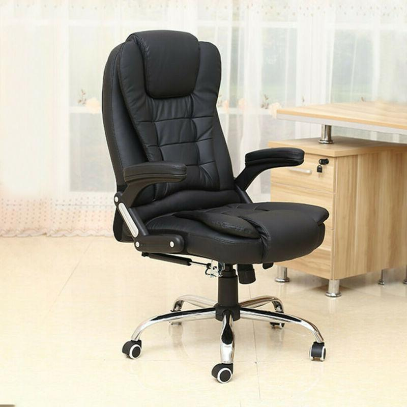 Comfortable Office Chair Gaming Chair Desk Ergonomic Leather